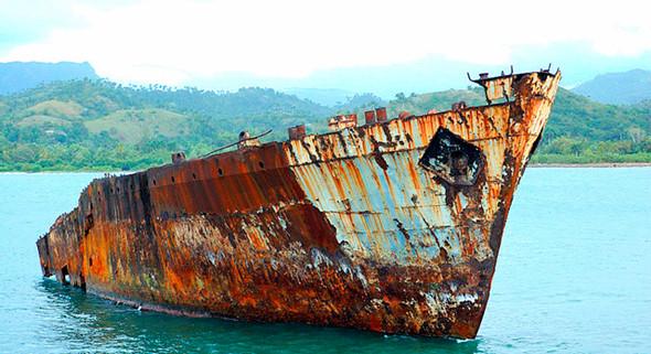 corrosión barco